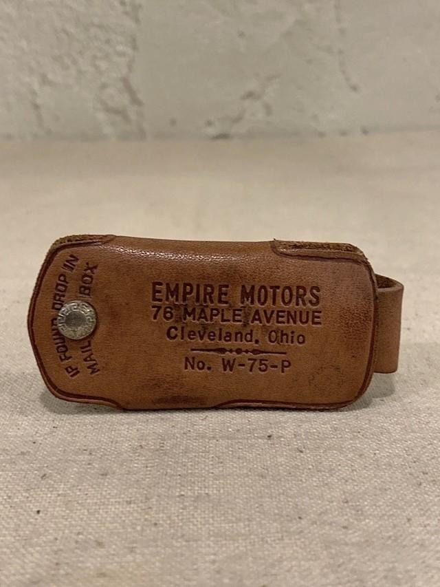 "LEATHER KEY CASE "" EMPIRE MOTORS """