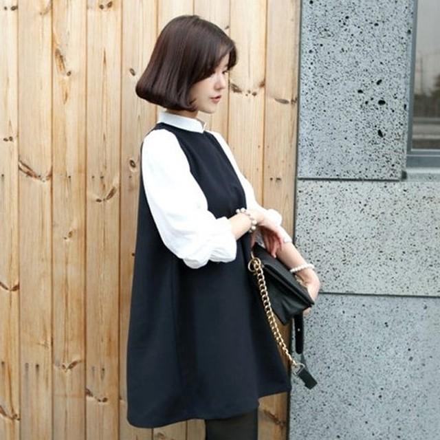 【マタニティ】ファッション無地切り替えベスト24920262