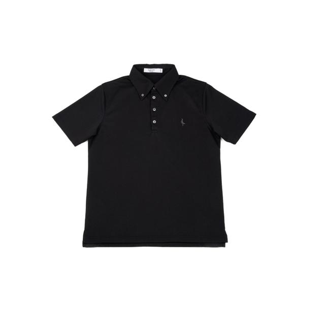 【 MEN'S 】サンゴクロス ポロシャツ 【BD-ONE】(BLACK)