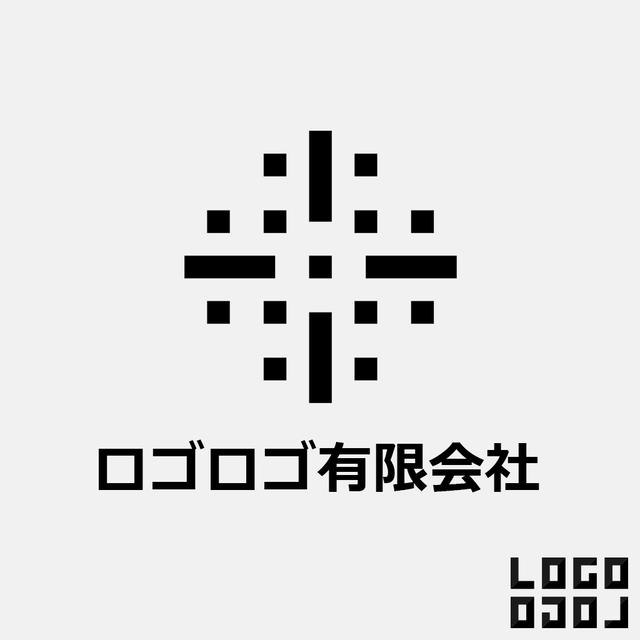 ロゴマークデザイン - 結晶のような、人が集まる場所のようなロゴ