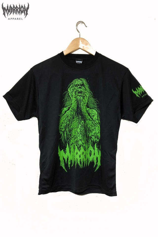 Brutal Zombie Marrion DRY Tee (Black×Green)