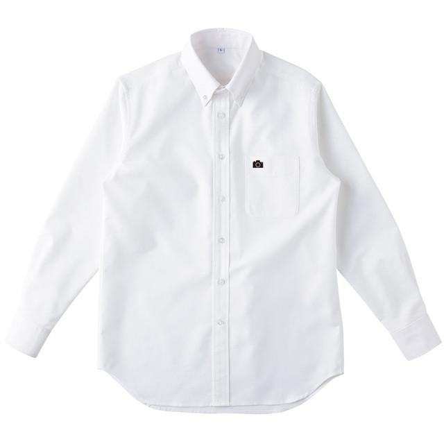 カメラ ワンポイントシャツ(ホワイト)