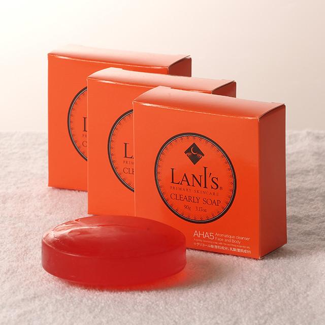 【送料無料】LANI'S CLEARLY SOAP 3個セット  ラニズ クリアリィソープ