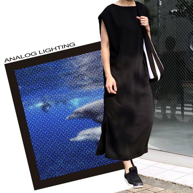 Formal Tuck In Sleeve Dress/BLACK