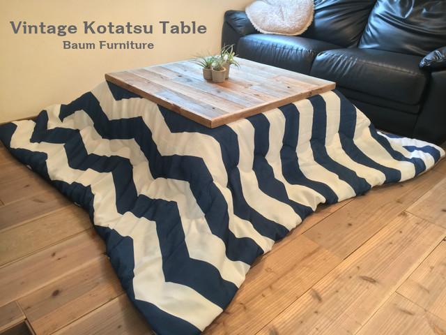こたつ アイアン ローテーブル ソファテーブル おしゃれ 座卓 [Vintage Kotatsu Table]