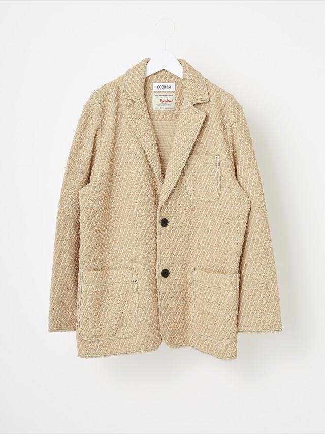 【COOHEM MEN】SOLID TWEED JACKET