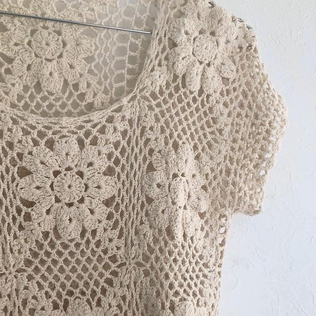 flower crochet knit