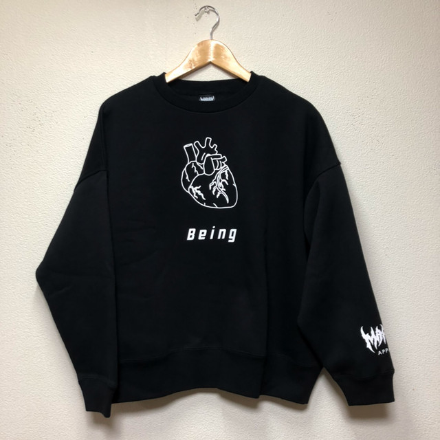 Being Big Silhouette SWEAT (BLACK)