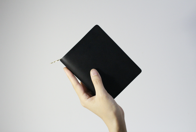 mu middle wallet   - Black -