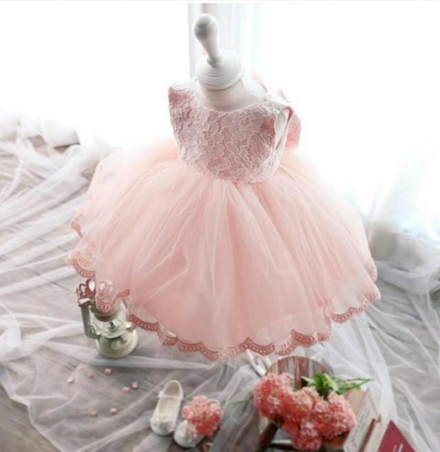 ピンクオーガンジーバックリボン♡キッズドレス♡