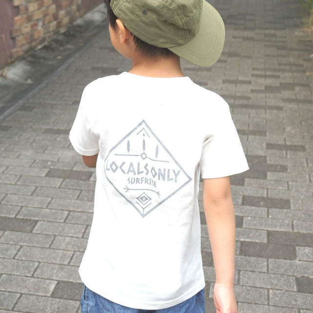 ★Kids★ LOCALS ONLY Tee - Vanilla white / Gray