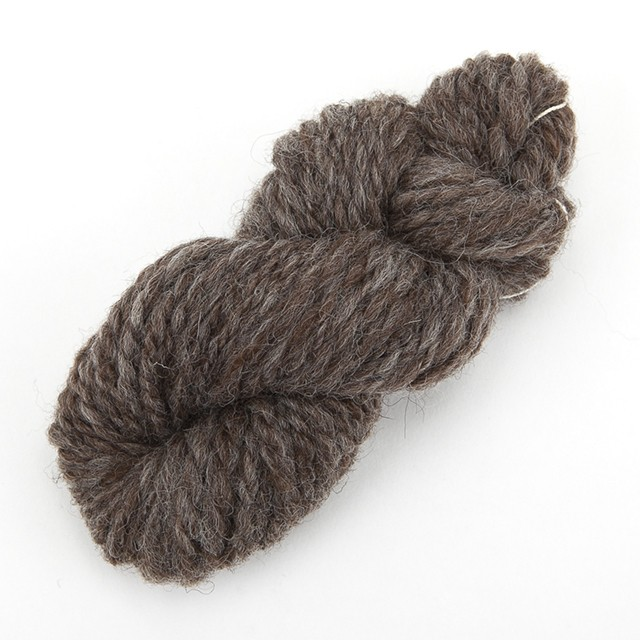 グレー(ぽわぽこ) ナチュラルコリデール ゲージ用糸サンプル (poko_cr3)手紡ぎ毛糸オーダー(送料込)
