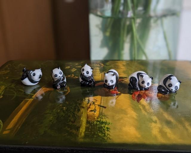 【ミニチュア陶器】Panda~⑥~