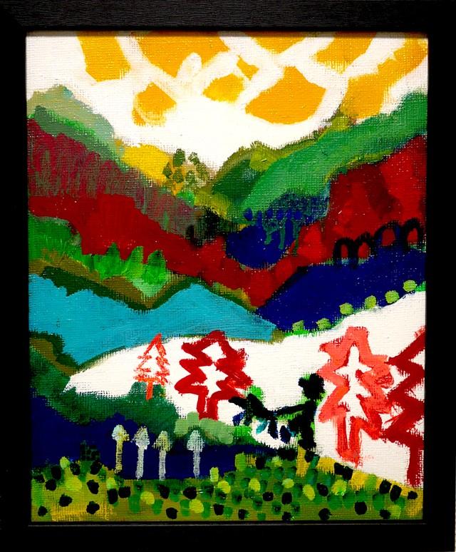 OIL COLOUR | FOREST WALKER | 油彩画