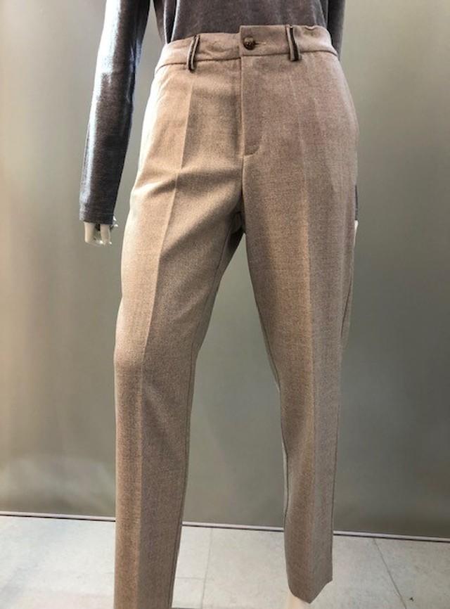 H.A.N.D (ハンド)イタリア製 フィラメントラメ織り込みウールパンツ 33903