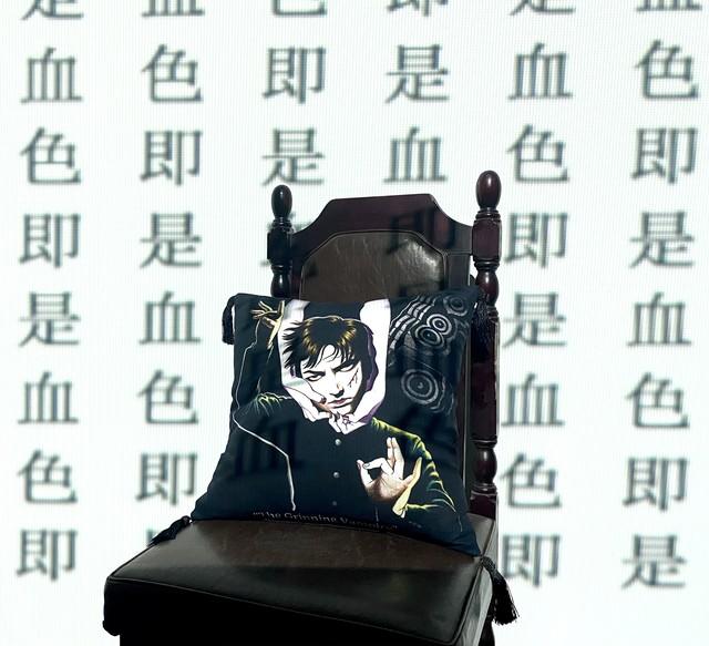 【丸尾末広】笑う吸血鬼 タッセルクッション(両面プリント)