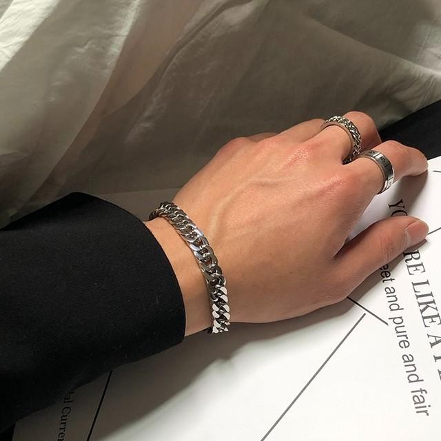 Titanium chain bracelet   a-197