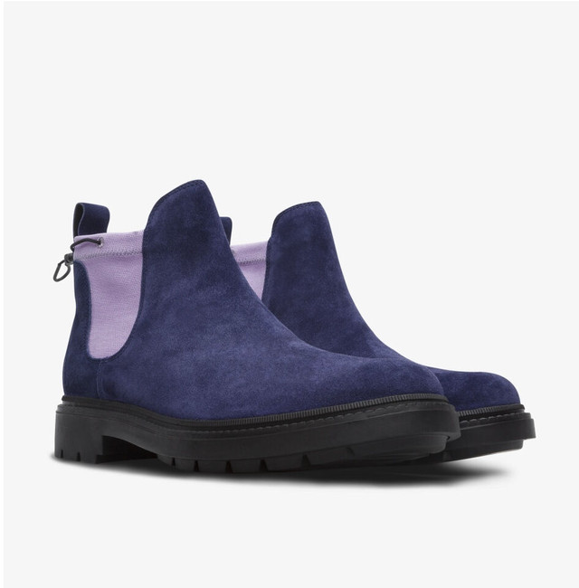 CAMPER TOGETHER × POP  TRADING COMPANY ANKLE BOOTS BLUE