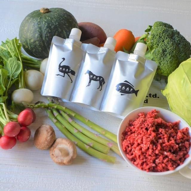 冷凍【NAAF Premium Food】野菜と馬のブイヨン【必ず注意文を読んでからご購入ください。冷凍商品のみでお会計をお願いします。】