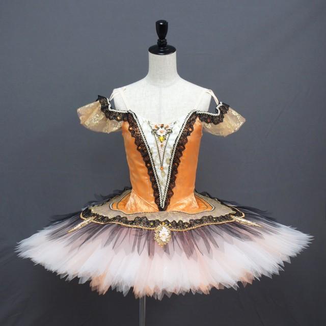 【受注販売】バレエ衣装 SC173_エスメラルダ・パキータ オレンジ