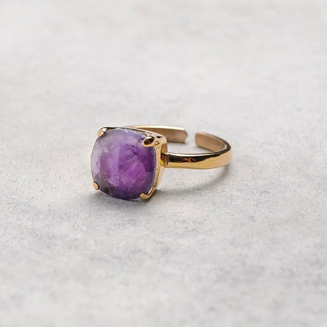 SINGLE STONE ADJUSTABLE RING 015