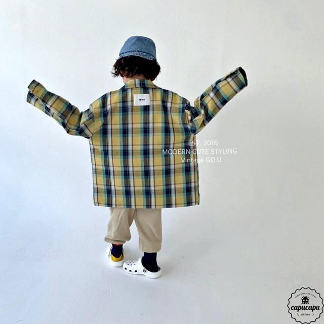«予約» go.u daddy jacket 2colors チェックジャケット