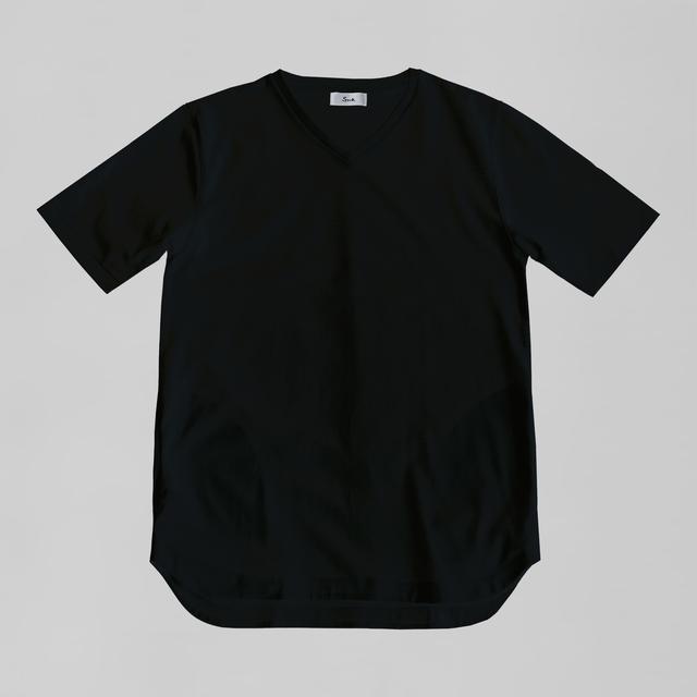 オーセンティックドレスT Vネック / Authentic Dress T V Neck #BLACK