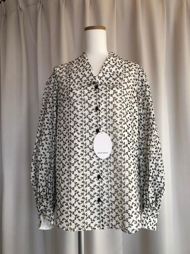 FUMIE TANAKA-volume embroidery shirt
