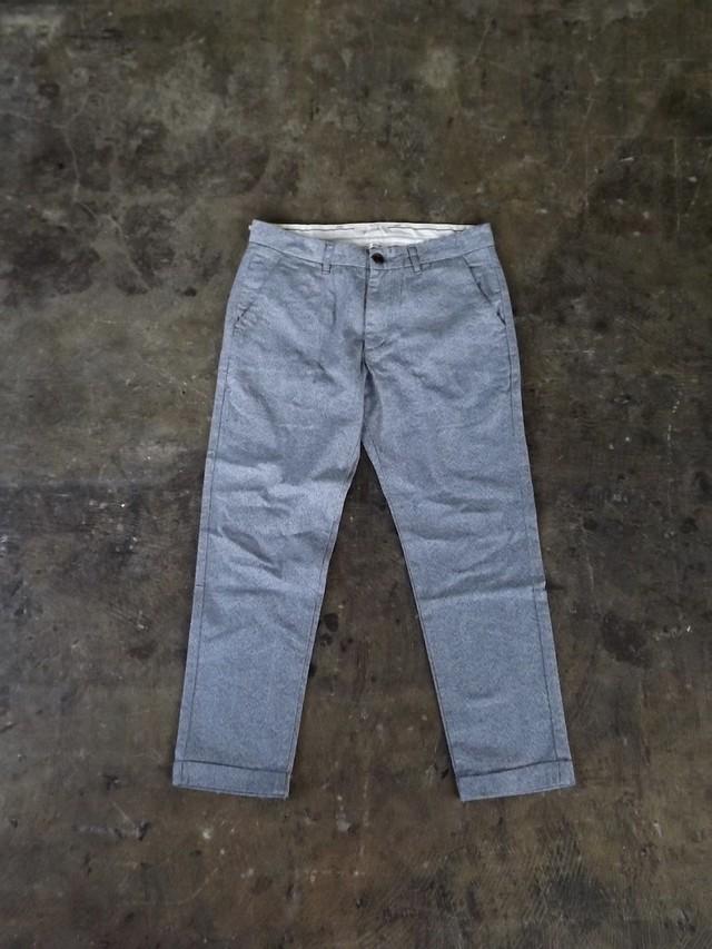 Mens,  [cm006-60] ヨリモクストレッチトラウザーズ  (ライトグレー)  ストレッチ, 日本製,メンズ,素材感