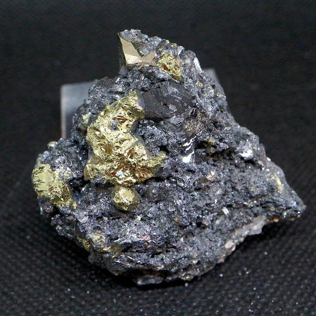 黄銅鉱 + テトラヘッドライト 安四面銅鉱  コロラド産 85g TTD026 原石 天然石 鉱物 パワーストーン