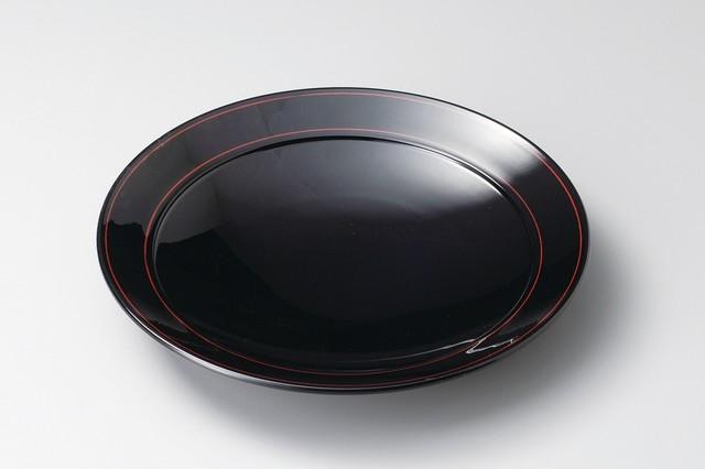 Pasta plate Echizen lacquerware black color