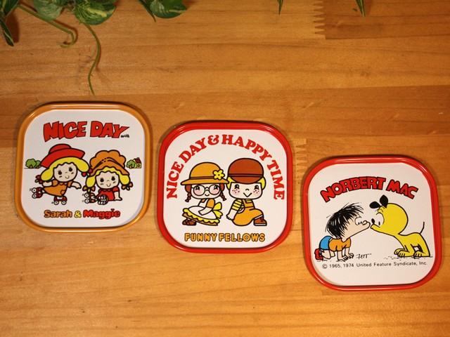 アメリカンヴィンテージ 缶コースター キャンプ ピクニック