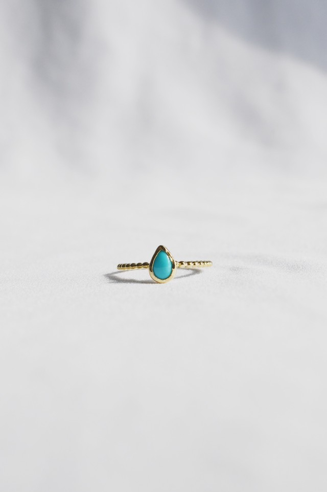 K18 Seed Turquoise Grains Ring 18金シードターコイズグレインズリング