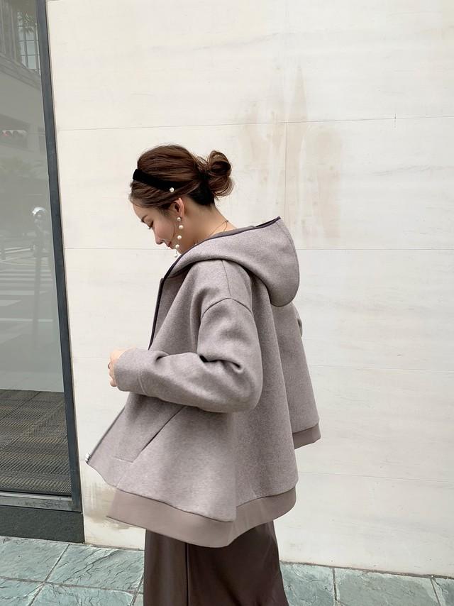 【予約】flare zip hoodie / beige 10/29 21:00 ~ 再販 (11月中旬発送)