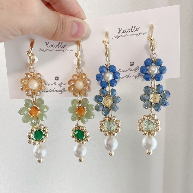 flower petit jewel(green・blue)