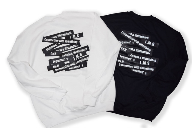 【random logo sweat】black/white