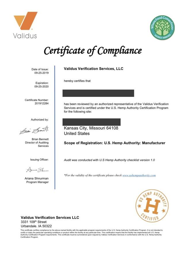 SIACO/シアコ 製品の品質証明書等