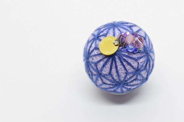 藍の麻糸(淡むらさき):季節の玉手箱【9月】