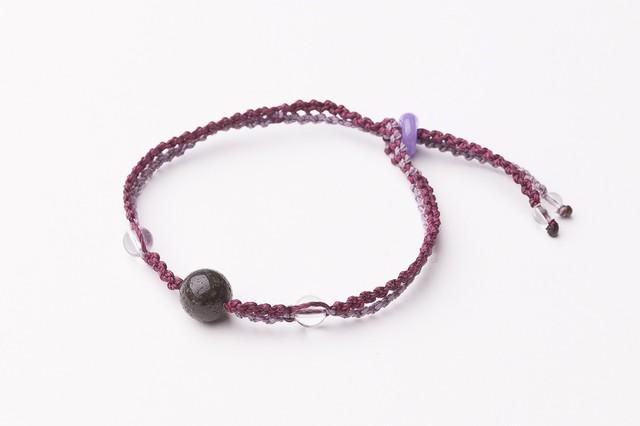 コピー:富士山溶岩ブレスレット[Lava Bracelet]紫Xラベンダー