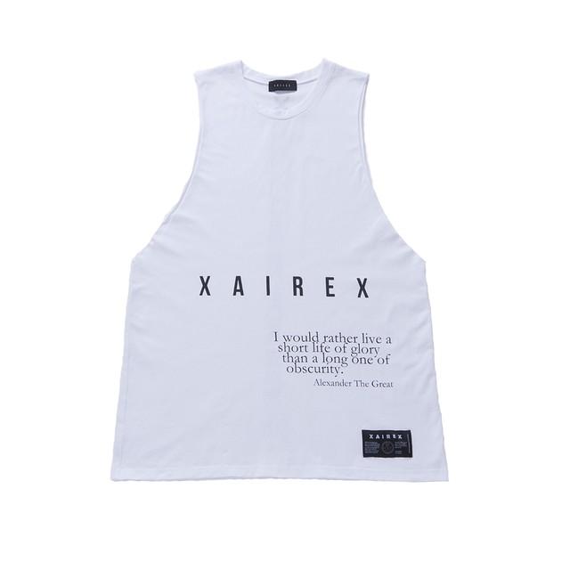 XAIREX LOGO TANK(WHITE)
