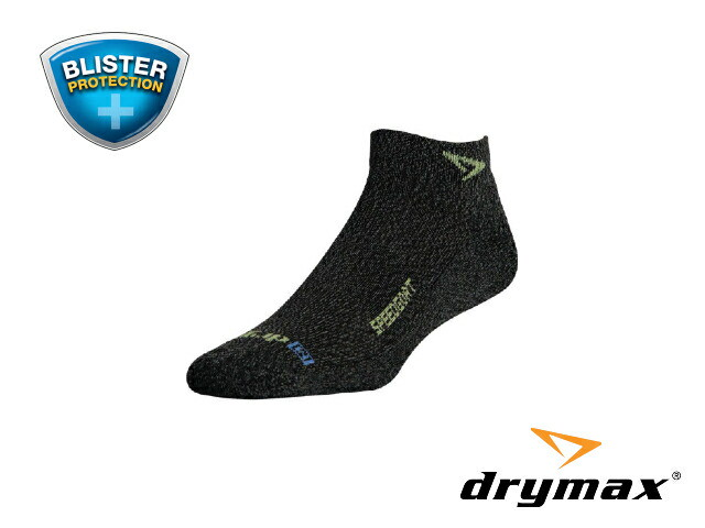 【drymax】 LiteTrail SpeedGoat MiniCrew Trailrunning Socks(Graphite Heathered/Sublime)