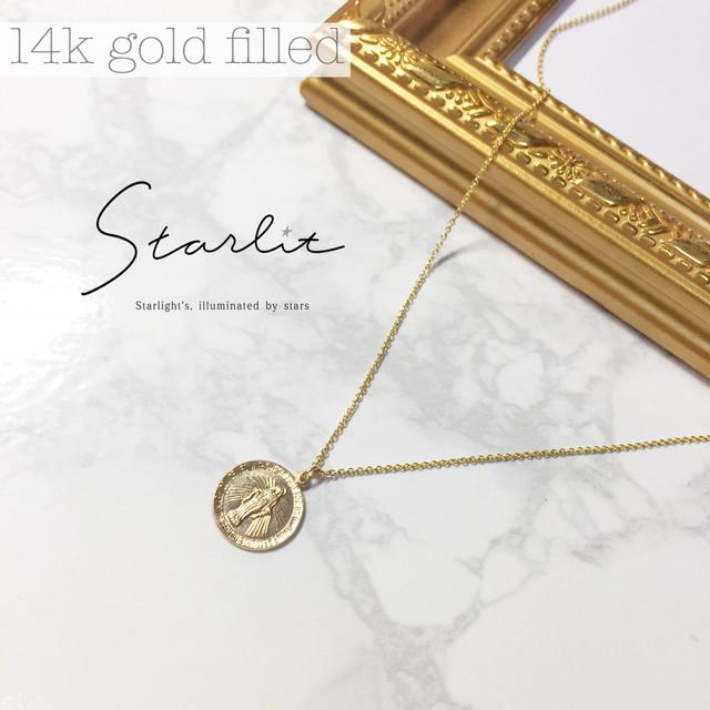 14kgf 》coin medal necklace