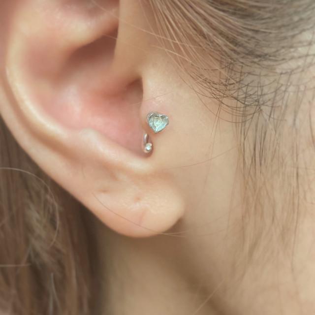 桃のbody earring silver925  14G #LJ20030P  16G LJ20029P  18G #LJ20028P