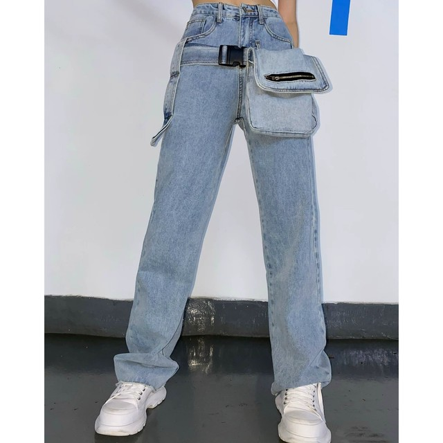 big pocket denim pants