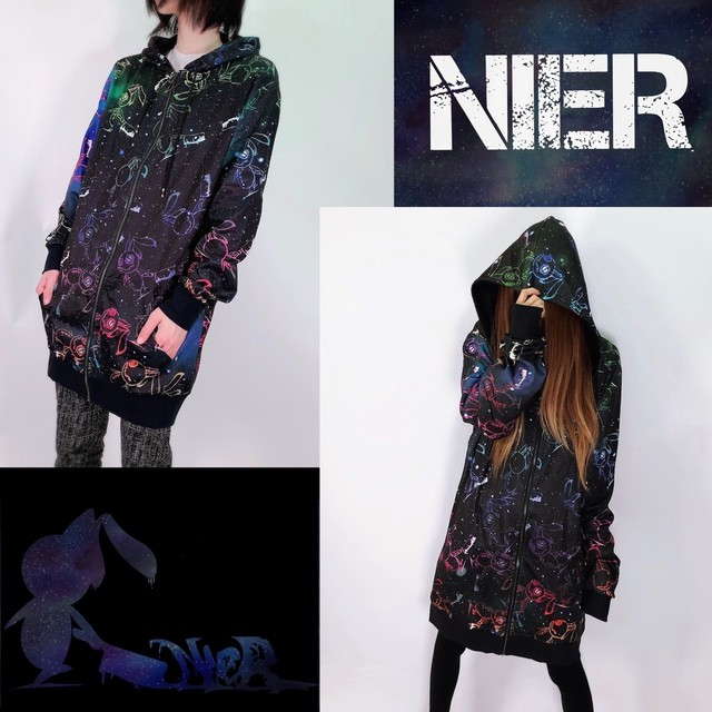LONG ZIP PARKA【NieR COSMO】
