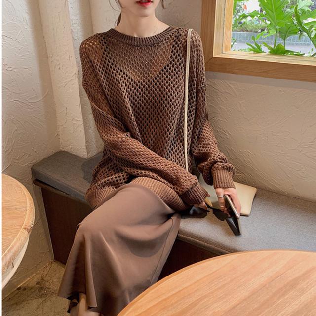〈カフェシリーズ〉コーヒーと抹茶のざっくり編みセット【coffee & matcha high gage set】