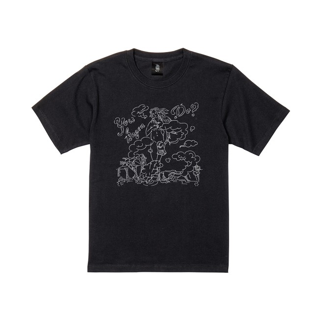 T SHIRT hot spring  半袖 黒