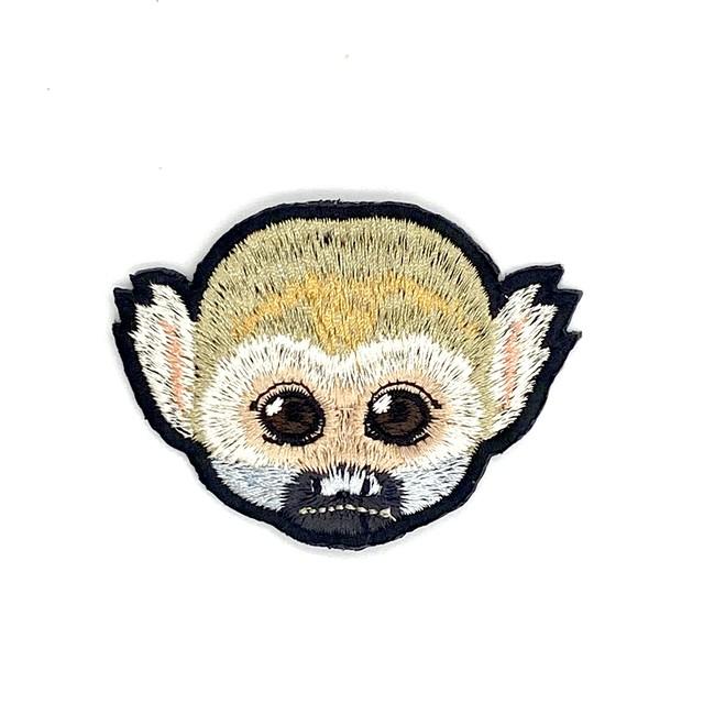 リスザルの刺繍ワッペン