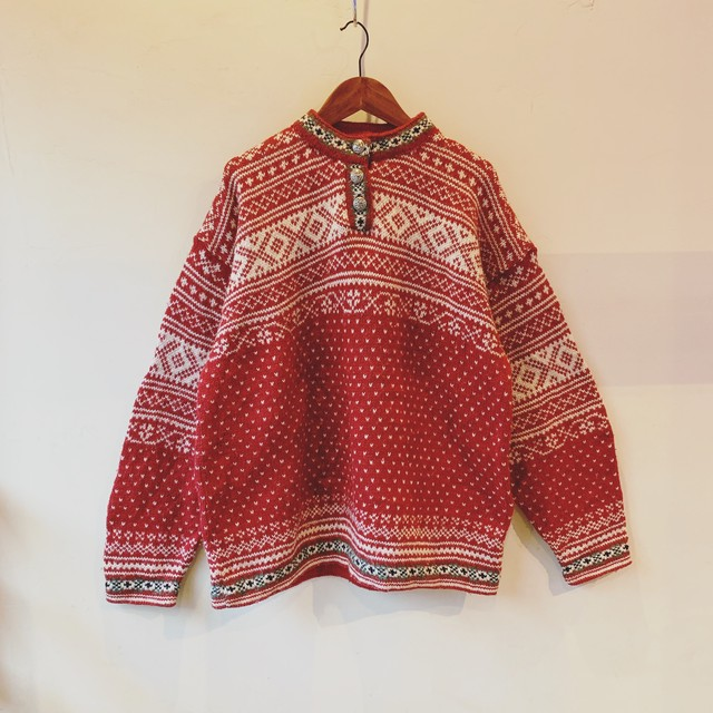 vintage LLbean nordic knit sweater