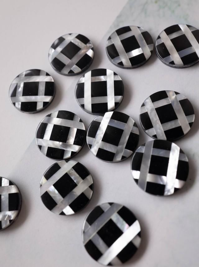 Mosaic Shell B&W / 4 pieces SET - 004